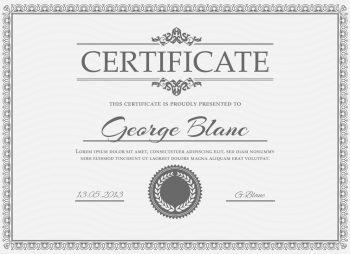 Certificate: George Blanc